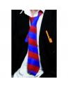 Cravate écolier rouge et bleu