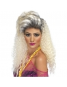 Perruque blonde frisée longue