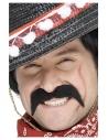 Moustache de bandit mexicain, noire, autoadhésive