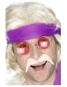 Moustache des années 70, blonde, autoadhésive