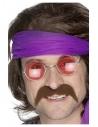 Moustache des années 70, marron, autoadhésive
