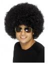 Perruque afro funky des années 70, noire, 120g