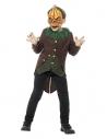 Costume Citrouille enfant, noir et orange (veste queue de pie, gilet et masque)