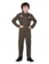 Déguisement Top Gun Enfant, Kaki, avec combinaison