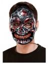 Masque de squelette, lumineux, Gris, à élastique