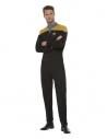 Star Trek, Uniforme d'opérations de Voyager, Or et noir, Combinaison, insigne Delta et insignes de grade