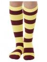 Chaussettes Stripy, Jaune et violet, UK 11-2.5, EU 29-35
