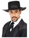 Chapeau de gangster Camden des années 20, Noir, Bordure intérieure élastique