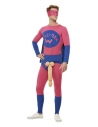 Déguisement de super-héros Willyman, Rose et bleu, avec body, masque et survêtement