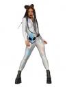 Combinaison holographique Miss Whiplash Fever, zippée