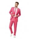 Costume unie, Rose vif, Veste, pantalon et cravate