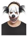Masque clown maléfique, latex, avec cheveux