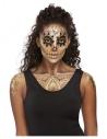 Maquillage effets spéciaux Smiffys, kit DOTD Or, aqua, avec des boucles d'oreilles, autocollants, peintures pour le visage et pa