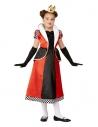 Déguisement de la Reine de coeur, Rouge, fille (Robe et bandeau)