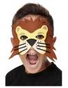 Masque de lion en feutre, Orange, Élastique (Enfant)