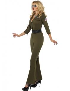 Déguisement femme top gun vert | Déguisement