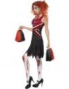 Déguisement pompom girl horreur rouge et noir   Déguisement