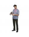 Déguisement Français Adulte (tee-shirt bleu et blanc, foulard, béret, moustaches)