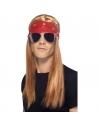 Perruque et bandana rockeur