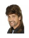 Perruque années 80 Jason brune | Accessoires