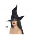 Chapeau de sorcière noir velours avec araignée | Accessoires