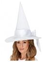 Chapeau Sorcière blanc, DELUXE, femme