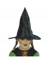Chapeau sorcier/sorcière enfant nylon noir