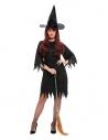 Déguisement sorcière noir (robe, ceinture et chapeau)