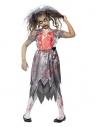 Déguisement enfant mariée zombie (robe et voile)   Déguisement Enfant