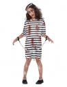 Déguisement fille prisonnière zombie (robe,chapeau et chaine) | Déguisement Enfant