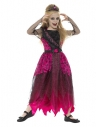 Déguisement reine du bal gothique Deluxe, Rose et noir ( obe et diadème)
