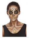 Maquillage effets spéciaux Or, aqua, avec des boucles d'oreilles, autocollants (visage)