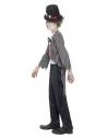 Déguisement mari'é zombie garçon (veste, fausse chemise imprimée, pantalon & chapeau)