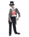 Déguisement mari'é zombie garçon (veste, fausse chemise imprimée, pantalon & chapeau)  Déguisement Enfant