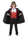Déguisement dracula rouge et noir, garçon (cape, ceinture smoking, foulard et gilet) | Déguisement Enfant