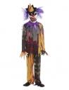 Déguisement de Clown effrayant enfant, multicolore (haut, pantalon et masque)