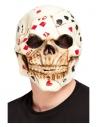 Masque intégral crâne visage impassible, latex