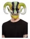 Masque intégral démon à cornes, latex