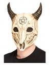 Masque intégral crâne de bouc satanique, latex