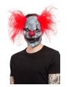 Masque clown foncé, latex, avec cheveux