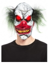 Masque tête de clown maléfique, latex, avec yeux qui s'éclairent