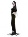 Déguisement de Morticia de la Addams Family, Noir (robe et perruque)