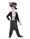 Déguisement de Chapelier Fou, Noir et blanc, Garçon (Veste, chemise et chapeau)