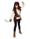 Déguisement de pirate fille, marron (haut et foulard pour la tête)