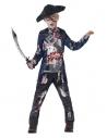 Déguisement Pirate Zombie Luxe, Garçon (haut, pantalon, tricorne)