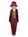 Déguisement de sorcier vaudou, Bordeaux (veste, haut, leggings, chapeau et collier)