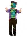 Déguisement Monstre vert enfant, taille (1 - 4 ans ,haut, pantalon et masque/chapeau)