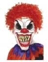 Masque clown horrible avec cheveux rouge (latex)
