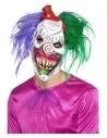 Masque intégral clown tueur avec cheveux