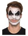 Maquillage à l'eau clown sanguinaire (3 couleurs, faux sang, nez, dents, éponge, brosse)